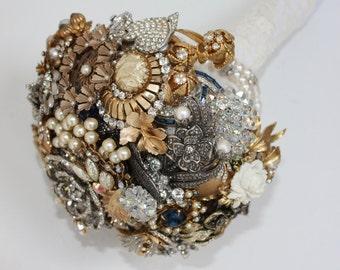 Brooch Bouquet Art Deco Style