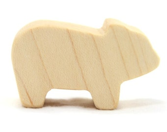 Wooden Farm Animal Toy Piglet or Pig