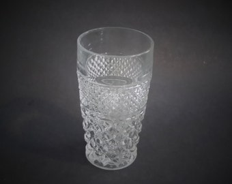 Anchor Hocking Crystal Wexford Glass 8 Ounce Tumbler Vintage