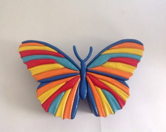 Handcrafted Intarsia Butterfly Box