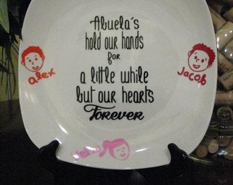 Grandma, Abuela, Nana, Aunt, Godmother, etc. Personalized Plate Keepsake