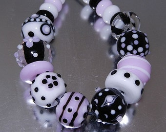 Hint of Pink Lampwork Bead Set