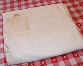 "Vintage 1950's 1960's 50's 60's Solid White Cotton Fabric 11 3/4 Yard @ 36"" Wide for Crafts Quilting Sewing"