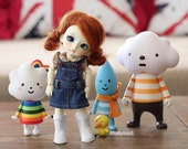 Blue Jean dresses Overall for your doll suitable for lati yellow / Pukifee
