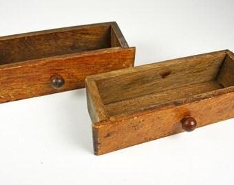 Drawers....2 Mini Wood Drawer Boxes