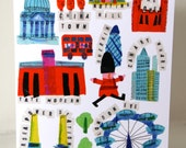 London Life, Greeting Card designed by Tracey English