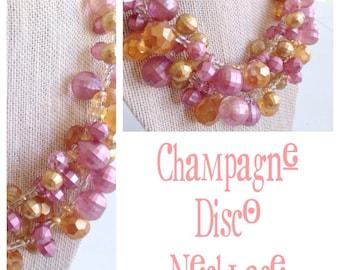 Champagne Disco Necklace
