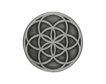 Seed of Life Pin (antique silver)