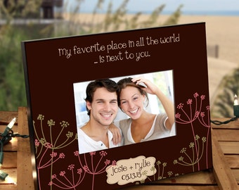 "Personalized Photo Frame for Couples : ""Next to You"""