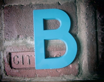 Vintage Letter Sign 6 Inch Letter B Sign BLUE Plastic Letter Sign Display Marquee Alphabet vtg Letters Wall Art Pop Art Retro
