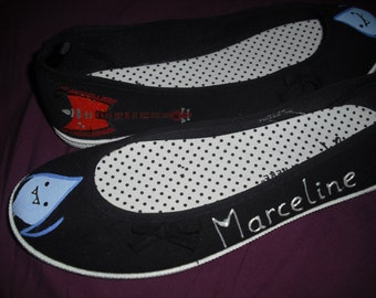 Marceline The Vampire Queen Adventure Time Inspired Hand Painted Shoes
