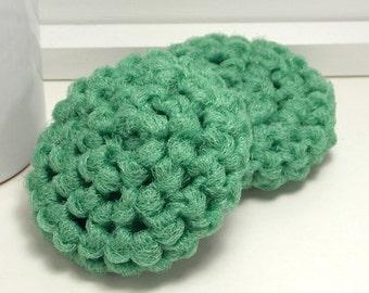 Sage Scrubbies, Pot Scrubby, Reusable Dish Scrubbies, Crochet Scrubbies, Nylon Scrubby, Green Scouring Pads, Crochet Scrubber, Set of 2