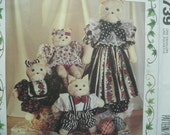 "27 1/2"", 12"" Precious Collections Cat and Wardrobe Toy Pattern, McCall's 5739, 1992"