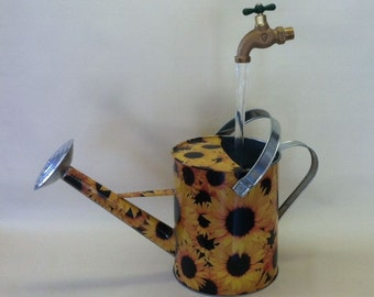 Sunflower Watering Can with Illusion