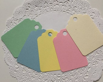 50 mix colors , gray, pink,mint,Tags , Favor Tags, Treat Bag Tags, Product Tags, Hang Tags, Wish Tree Tags, birthday tags ,Baby shower tags