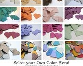 300 Plantable Seed Paper Confetti Hearts - Pick Your Own Color Blend - Eco Friendly, Great for Wedding Favors, Bridal & Baby Showers