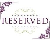 Reserved for Jenn S.