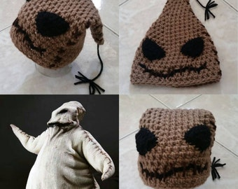 Crochet Oogie Boogie Beanie/Cap (The Nightmare Before Christmas)
