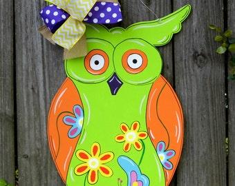 Owl Door Hanger, Classroom Door Hanger, Summer Door Hanger, Spring Door Hanger