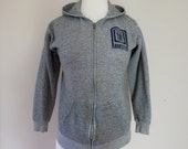 80's Well Worn Sweatshirt Germany Hoody Grey Tattered Grunge Hoodie XS S