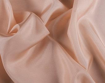 "45"" Wide 100% Silk Habotai Bisque-Wholesale by the Yard"