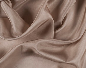 "45"" Wide 100% Silk Habotai Bronze-Wholesale by the Yard"