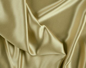 """45"""" Wide 100% Silk Charmeuse Gold By the Yard"""