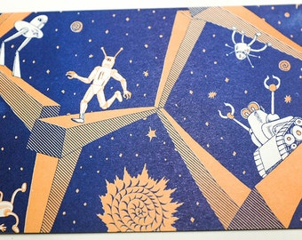 Max Mose Postcard Series: Robots and Spacebeams