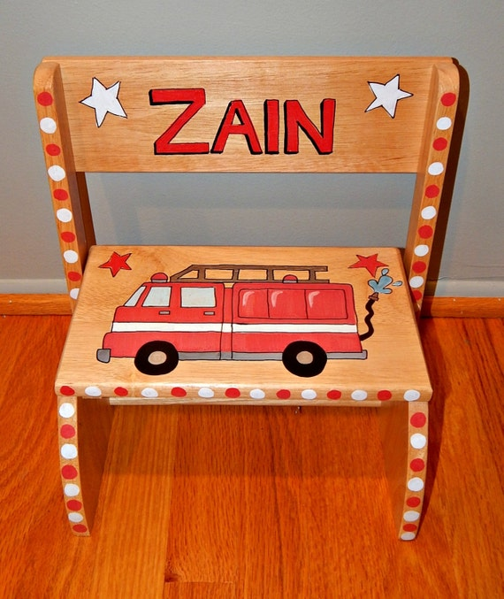 Fire Truck Personalized Step Tool