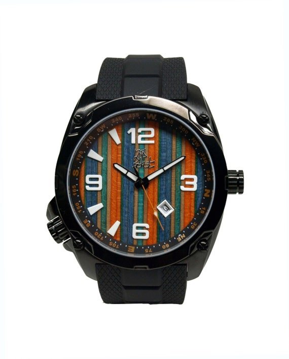 Items similar to Recycled Skateboard Watch