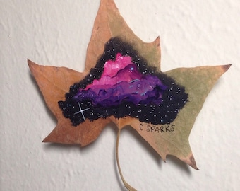 Pink & Purple Nebula - 9x9 - Cosmic Leaf Art