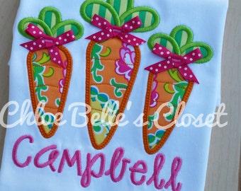 Carrot Trio  Ruffle  Shirt sizes 6/12 m - 8 Y