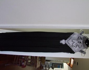 Vintage Middle Eastern chain stitch embroidery gown ala 1980s 1990s