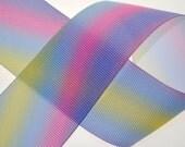 "Rainbow 1.5"" Wide Grosgrain - Three, Five, or Ten Yards"