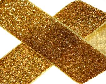 "Metallic Gold Glitter Ribbon - 1.5"" wide - 5 Yards"