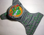 Cloth Diaper Embroidery TMNT
