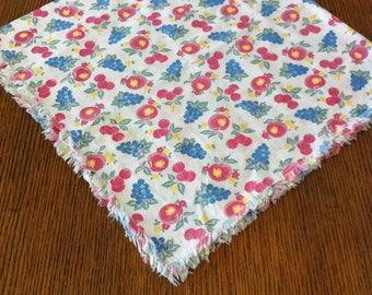 Fruit tablecloth- square tablecloth-kitchen towel- fruit- tablecloth- dish towel