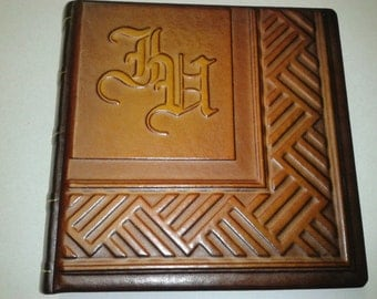 Photo Album - Handmade Art Leather Gift Present Cover Personalized #6