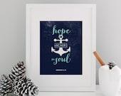 Anchor - Typographic Print