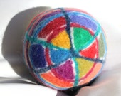 Wool Felted Pattern Ball, Motor Skills,sensory integration, fragile children, autism, special needs, parent child interaction