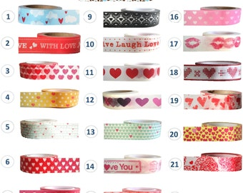 Washi Tape - HEARTS and LOVE Collection