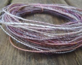 Fiber Wire Core Handspun Art Yarn 24 gauge wire Red Riding Hoods Wolf- Painted Sandstone