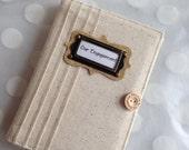 Brag Book  Personalized Photo Album holds 48 Photos-Cream Unbleached Linen