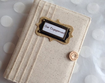 Brag Book  Personalized Photo Album holds 48 Photos-Cream Unbleached Linen