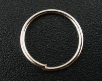 800 Jump Rings - 10mm - Antique Silver - WHOLESALE - Open -  (21 Gauge) -  Ships IMMEDIATELY from California - F254a
