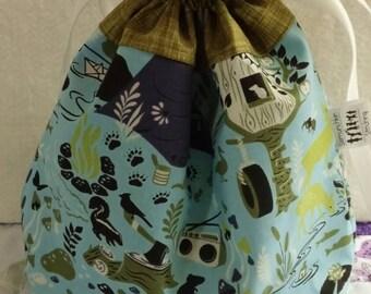 Tula Pink Lined Drawstring Bag Ready to Ship