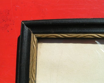 30s BLACK and GOLD Deco Wood Frame for Repurpose