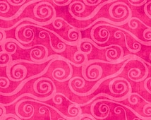 Essentials by Wilmington Prints, Pink Fabric, Pink Floral Fabric, Magenta Scroll Fabric, 10063