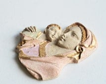 ON SALE Mother and Baby Resin Decoration