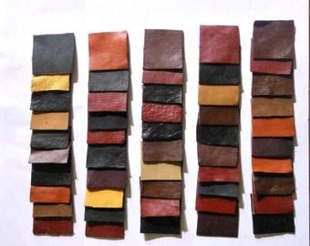"Leather Squares -2""X2"" - 50 pcs"